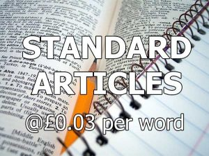 standard content from $0.05 per word