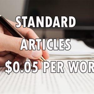 standard article writing