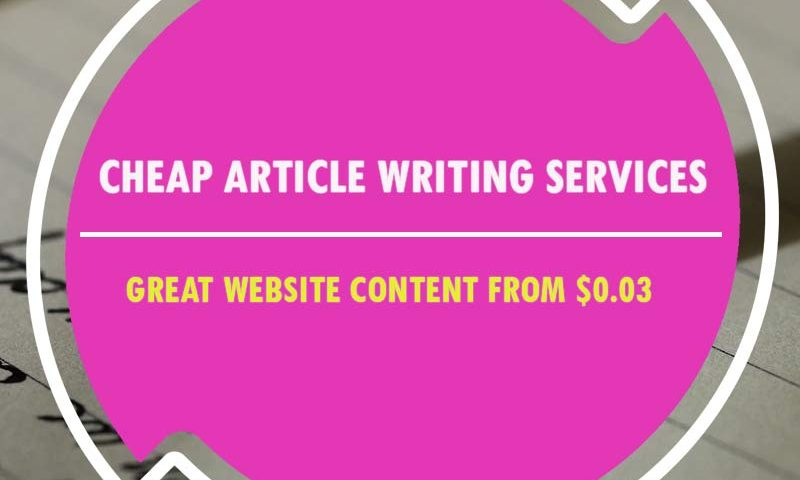Cheap article writing service