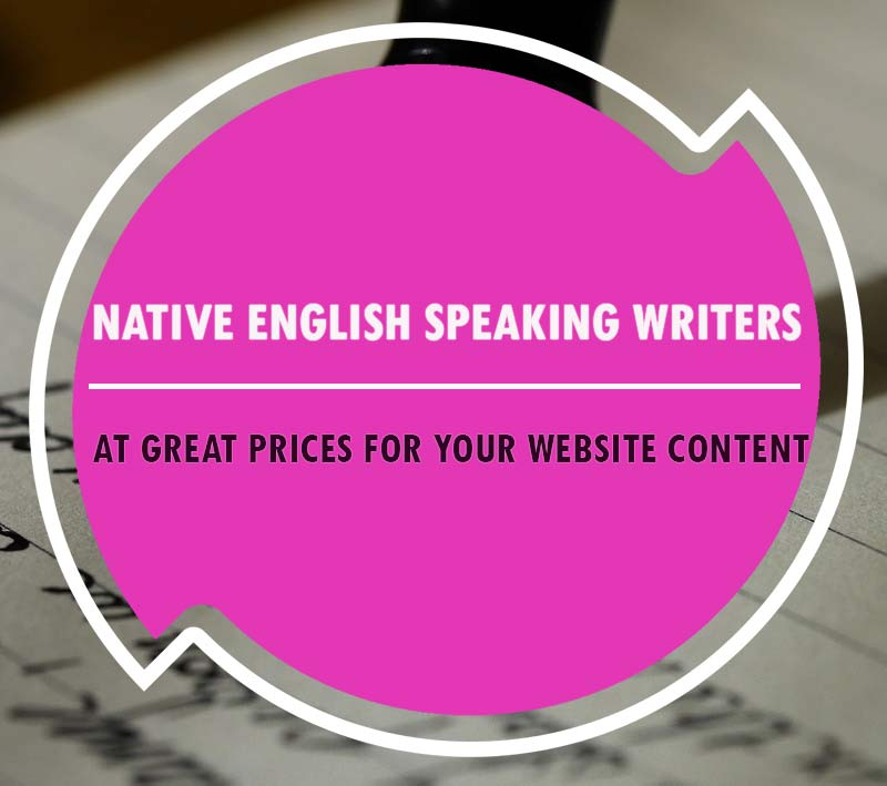 native english speaking writers