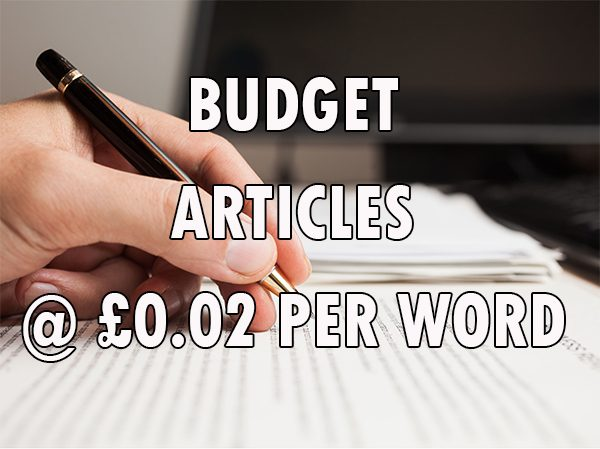 budget articles from £0.02 per word